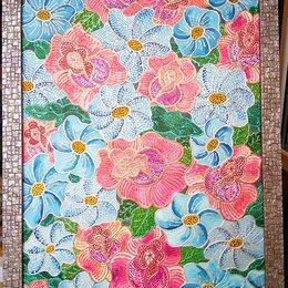 Картины, постеры, гобелены, панно - Картина холст масло Декоративные цветы 40х60 см, 0
