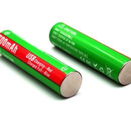 Батарейки - Аккумуляторные батарейки AAA, micro USB, 700 mAh, 1.5V, Li-ion (2 шт.), 0