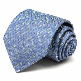 Галстуки и бабочки - Синий галстук с мелкими лого Celine 63590, 0