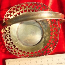 Посуда - серебряная конфетница,серебро 875 проба, 0
