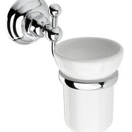 Мыльницы, стаканы и дозаторы - Стакан Nicolazzi Classica настенный, белая керамика/хром 1488CR, 0