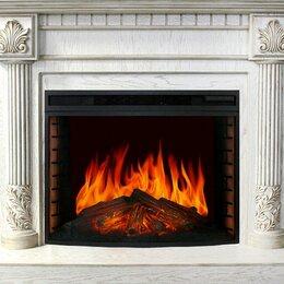 Камины и печи - Royal Flame Каминокомплект Rodos - Белый дуб, патина золото с очагом Dioramic..., 0