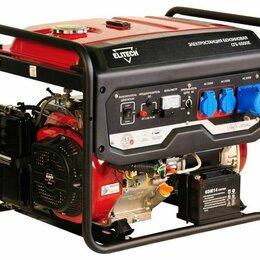 Электрогенераторы и станции - Бензиновый генератор Elitech БЭС 6500 E, 0