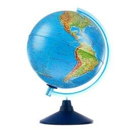 Глобусы - Интерактивный глобус Земли физико-политический, диаметр 250 мм, с подсветкой,..., 0