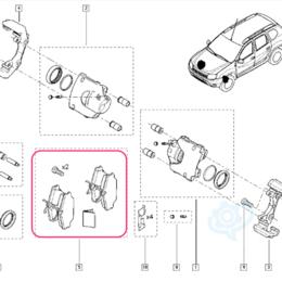 Тормозная система  - Колодки тормозные передние Renault Clio III, Duster, Kaptur, Lada Largus, Nissan, 0