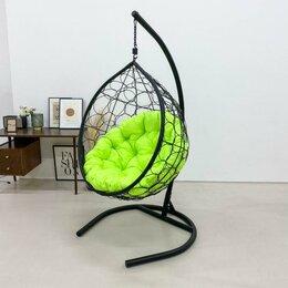 Подвесные кресла - Кресло подвесное из эко-ротанга Стандарт, цвет венге (подушка круглая оксфорд..., 0