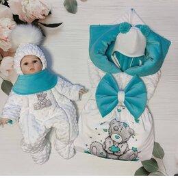 Конверты и спальные мешки - Конверт, комбинезон, шапочка, шарфик, 0