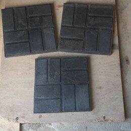 Садовые дорожки и покрытия - Плитка полимерпесчаная 250х250х20 черная , 0