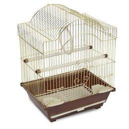 Клетки и домики - Клетка для птиц, золотая, 300*230*390мм, 0