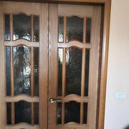 Межкомнатные двери - Двери межкомнатные бу 600 мм (4штглухие и застекленные) и 800 мм застекленная , 0