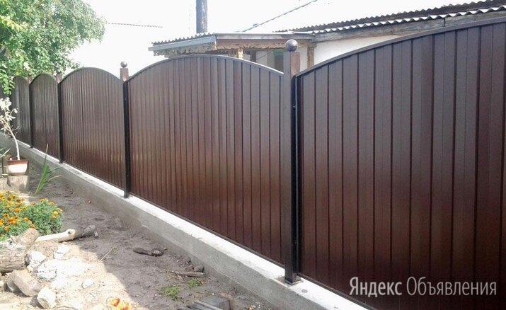 Забор из профлиста с выделенными столбами по цене 990₽ - Заборы, ворота и элементы, фото 0