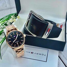 Наручные часы - Мужские часы наручные классические на стальном ремешке, набор подарочный , 0