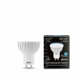 Лампочки - Лампа светодиодная Black MR16 5Вт 4100К бел. GU10 530лм 150-265В Gauss 1..., 0