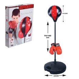 Тренировочные снаряды - Набор для бокса «Профи»: напольная груша, перчатки, 0