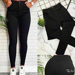 Джинсы - Женские черные джинсы и кожаные, 0