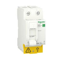 Концевые, позиционные и шарнирные выключатели - SE RESI9 Выключатель дифференциального тока (УЗО) 25А 2P 10mA тип A, 0