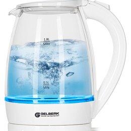 Электрочайники и термопоты - Чайник электрический Gelberk GL-472 белый 1,8л сте, 0