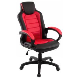 Компьютерные кресла - Игровое кресло Kadis экокожа черная/красная, 0