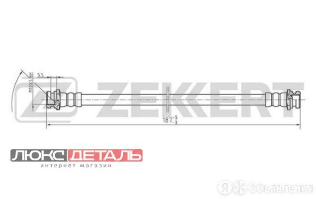 ZEKKERT BS9126 Шланг тормозной передний Mitsubishi L200 III 96-  Pajero II 90-  по цене 249₽ - Тормозная система , фото 0