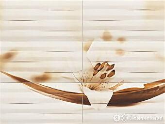 Панно Tubadzin D.Maxima Brown 2 89.8*67.3 цветок 6 элементов по цене 4175₽ - Картины, постеры, гобелены, панно, фото 0