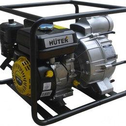 Мотопомпы - Мотопомпа бензиновая HUTER MP- 80 для слабозагрязненной воды [70/11/7], 0