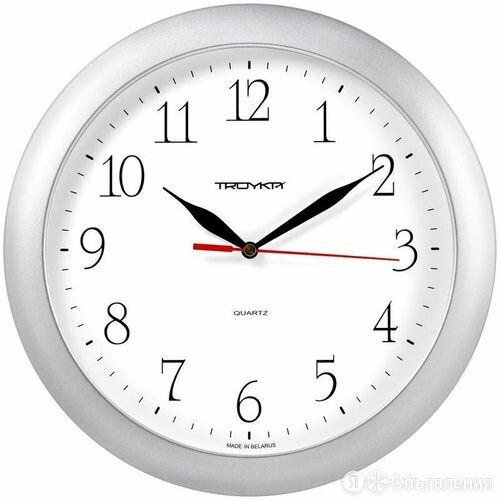 Часы настенные ход плавный, Troyka 11170113, круглые, 29*29*3,5, серебристая рам по цене 536₽ - Часы настенные, фото 0