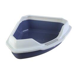 Туалеты и аксессуары  - Туалет треугольный 'Айша' с бортом 56 х 42 х 17 см, серый, 0