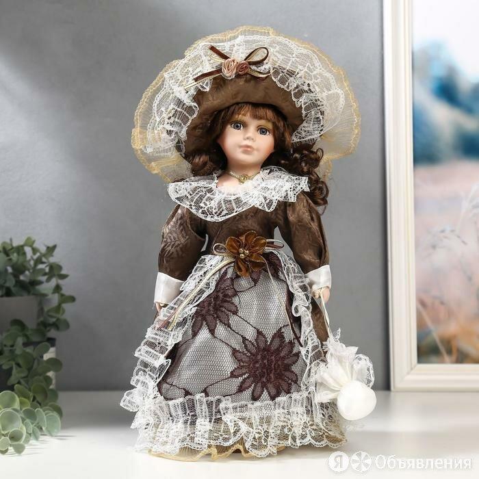 Кукла коллекционная керамика 'Маленькая мисс в шоколадном платье' 30 см по цене 1576₽ - Куклы и пупсы, фото 0