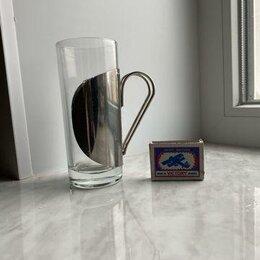 Бокалы и стаканы - стакан, стекло и нержавеющая сталь, обьем 200 мл, 0