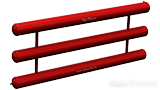 Регистр отопления трехрядный РАП-3x133x4.0-5000, 183,8 л по цене 26680₽ - Радиаторы, фото 0