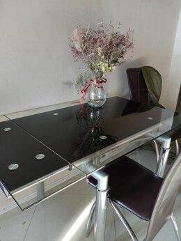 Мебель для кухни - стол каленное стекло 1500*800 мм , 0