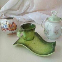 Кружки, блюдца и пары - Посуда: сливочник, кофейная чашка с блюдцем, сахарница, 0
