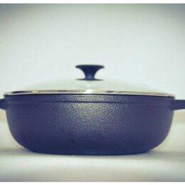 Сковороды и сотейники - Сковорода-вок чугунная с крышкой, 0