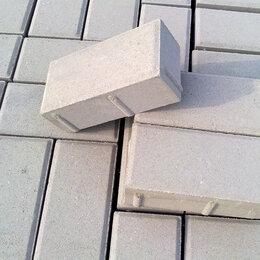 "Тротуарная плитка, бордюр - Брусчатка ""Кирпичик"" серый 200х100х60 мм, 0"