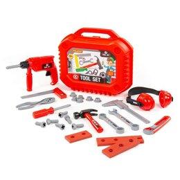 Детские наборы инструментов - Полесье Набор инструментов №18 (27 элементов) (в чемоданчике), 0