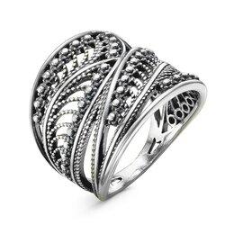 """Свадебные украшения - Кольцо """"Сатурн"""", посеребрение с оксидированием, 18,5 размер, 0"""