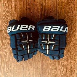 "Аксессуары - Хоккейные краги Bauer Gloves 4-Roll PRO 13"" navi, 0"