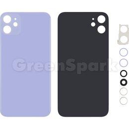Корпусные детали - Задняя крышка для iPhone 11 (фиолетовый) со стеклом камеры класс AAA, 0