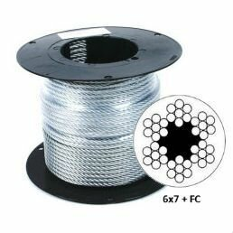 Такелаж - Трос в оплетке пвх DIN 3055 8/10мм на отрез, 0