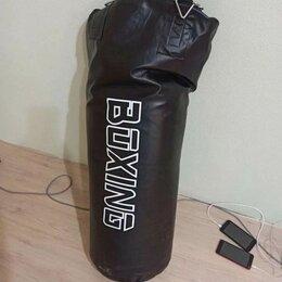 Тренировочные снаряды - Боксерский мешок 40кг 100х30 см + крепление, 0