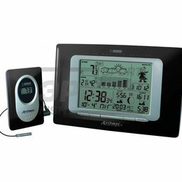 Метеостанции, термометры, барометры - Метеостанция Wendox Atomic W839009 Black W339010, 0