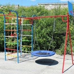 Игровые и спортивные комплексы и горки - Уличный спортивный комплекс Микро 3 гнездо с сеткой, 0