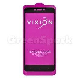 Защитные пленки и стекла - Защитное стекло 6D для Xiaomi Redmi 4X (черный) (VIXION), 0