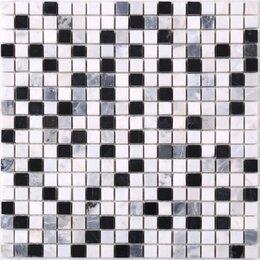 Мозаика - Мозаика Tessare 30,5х30,5х0,4см мрамор бело-черный шт(SMK-1017M), 0
