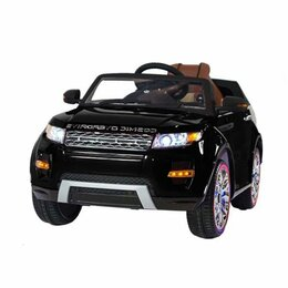 Электромобили - Детский электромобиль Range Rover Luxury Black 12V - SX118-S, 0