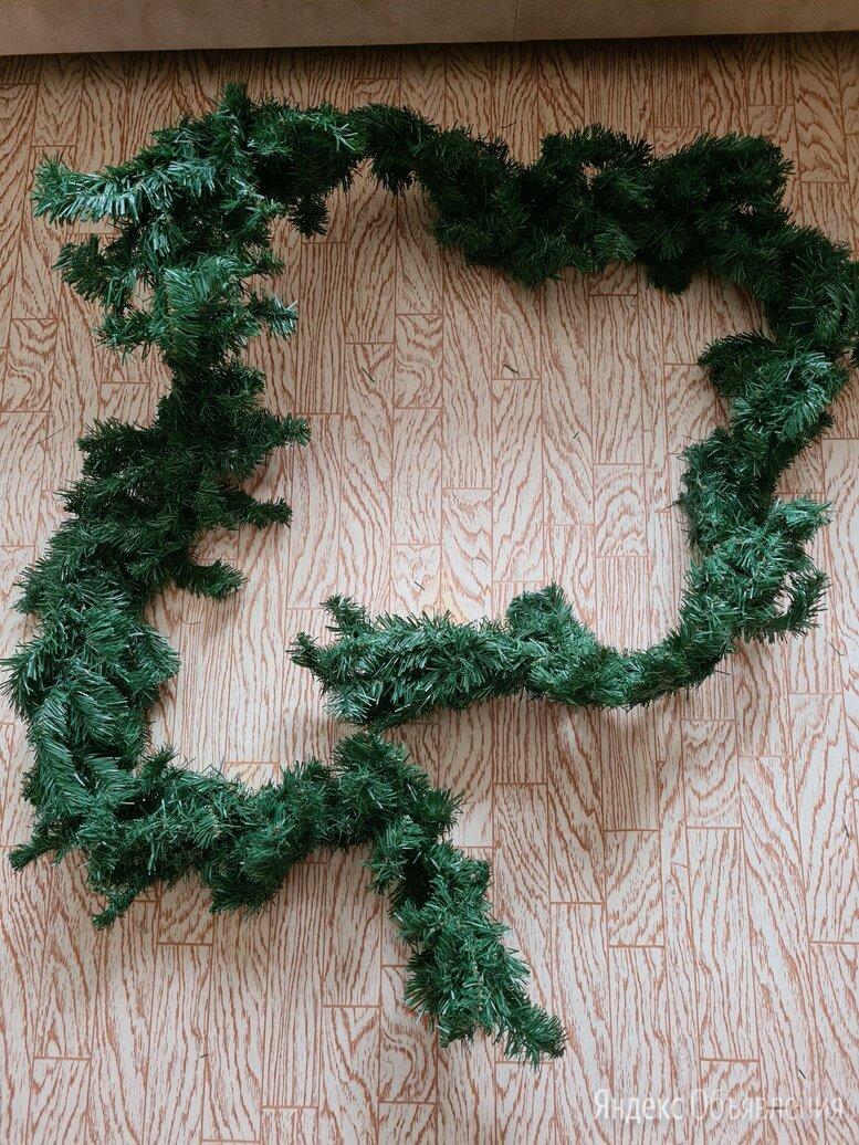 Гирлянда еловая 270см по цене 500₽ - Новогодний декор и аксессуары, фото 0