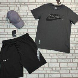 Спортивные костюмы - Комплект спортивный футболка и шорты Nike серый, 0