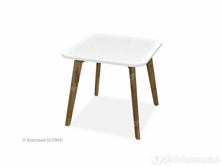 """Стол журнальный """"Wallstreet"""" квадратный 262; н-графит, стл-белый по цене 10110₽ - Столы и столики, фото 0"""