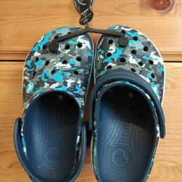 Шлепанцы - Серые сабо Crocs Crocband (Кроксы) , 0