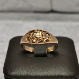 Кольца и перстни - Золотое кольцо 585 пробы массой 2.2 грамма (Р17), 0